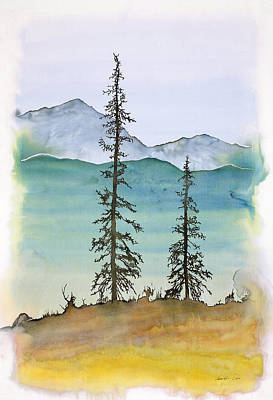 Drive To Eagle And Sketching On A Bumpy Road Art Print by Carolyn Doe