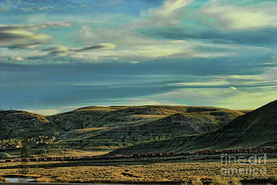 Photograph - Driving Across America Wyoming Skies by Chuck Kuhn
