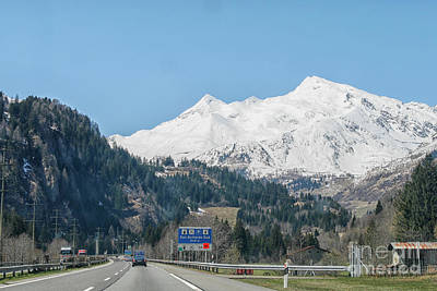 Driving In The Swiss Alps Art Print by Patricia Hofmeester