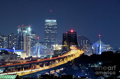 Boston Photograph - Driving Into Boston by Isaac S