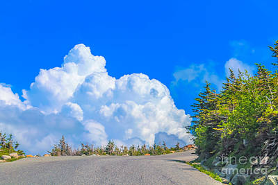 Driving Into The Clouds Art Print