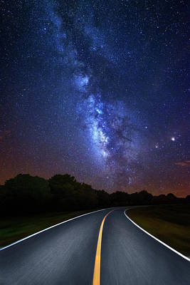 Photograph - Driving Into The Milky Way by Justin Kelefas