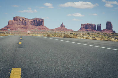 Photograph - Driving Monument Valley by Margaret Pitcher