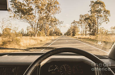 Driving On Rural Australian Road Art Print by Jorgo Photography - Wall Art Gallery