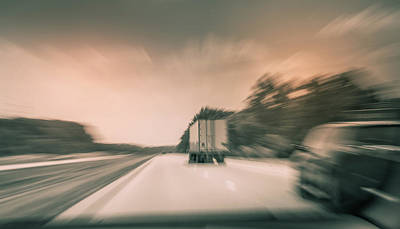 Photograph - Driving On The Highway by Dan Sproul