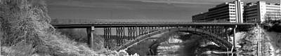 Photograph - Driving Park Bridge In B And W by Richard Engelbrecht