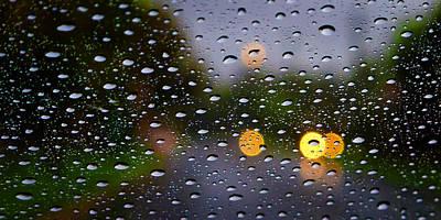 Driving Rain Art Print