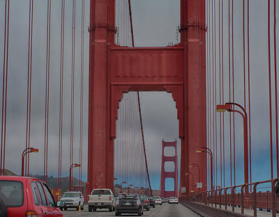 Photograph - Driving The Golden Gate by Debby Richards