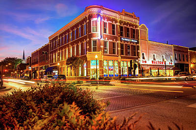 Cities Photograph - Driving Through Downtown - Bentonville Arkansas Town Square by Gregory Ballos