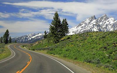 Photograph - Driving Through Grand Teton National Park by Dan Sproul