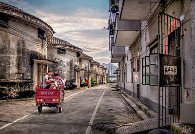 Photograph - Driving Through Old Shilong by Endre Balogh