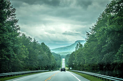 Photograph - Driving Through Table Rock Park Mountains In South Carolina by Alex Grichenko