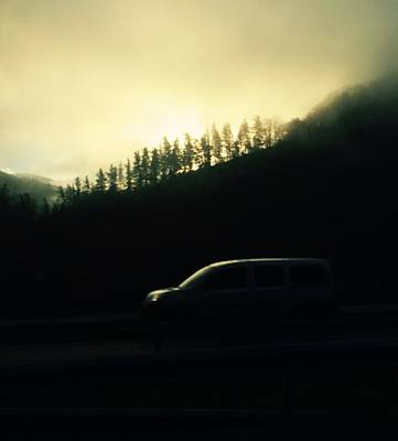 Photograph - Driving Through The Fog by Contemporary Art