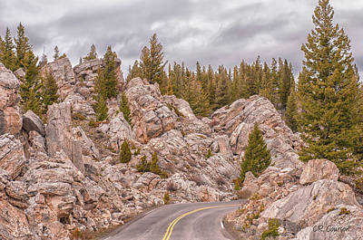 Photograph - Driving Through The Hoodoos by CR  Courson