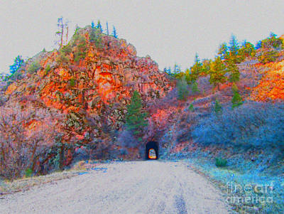 Photograph - Driving Through The Mountains by Kelly Awad