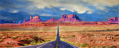 Photograph - Driving To Monument Valley by Priscilla Burgers