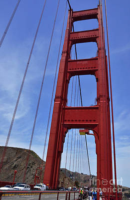 Photograph - Driving Walking Biking Across The Golden Gate by Debby Pueschel
