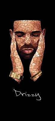 Drizzy Wall Art - Digital Art - Drizzy Drake Rapper Mosaic by Anston Roberts