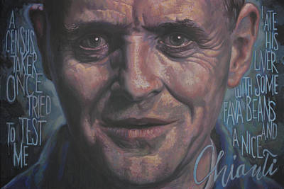Anthony Hopkins Painting - Dr.lecter by Todd Trainer