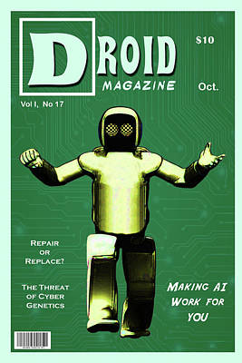 Digital Art - Droid Magazine by John Haldane