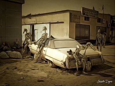 Broken Digital Art - Droids At Battle Break - Da by Leonardo Digenio