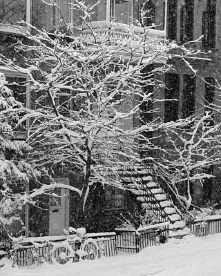 Photograph - Drolet Street In Winter, Montreal by Yves Marcoux