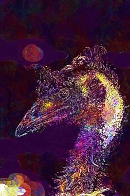 Emu Digital Art - Dromaius Novaehollandiae Emu Brown  by PixBreak Art
