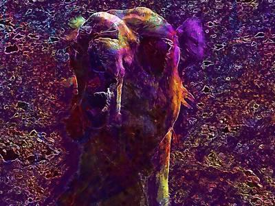 Dromedary Digital Art - Dromedary Camel Animals Sand  by PixBreak Art