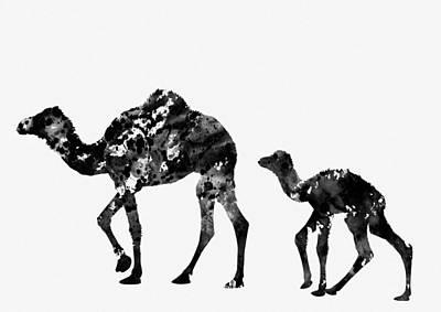 Dromedary Digital Art - Dromedary Camels by Erzebet S