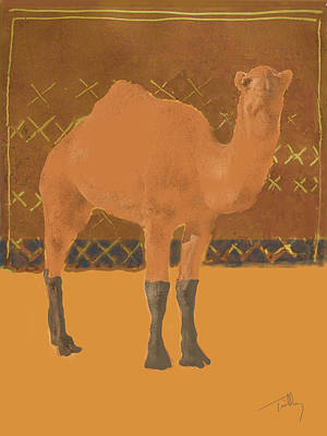 Painting - Dromedary by Thomas Tribby