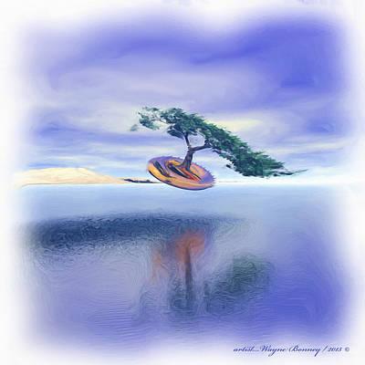 Painting - Drone Tree Transporter by Wayne Bonney