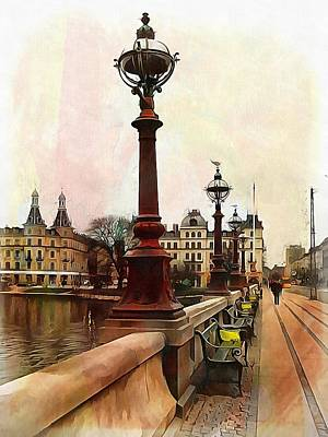 Photograph - Dronning Louises Bro Bridge Copenhagen 2 by Dorothy Berry-Lound