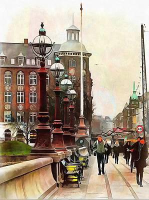 Photograph - Dronning Louises Bro Bridge Copenhagen by Dorothy Berry-Lound