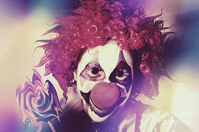 Comics Royalty-Free and Rights-Managed Images - Droopy the clown with mind bending magic by Jorgo Photography - Wall Art Gallery