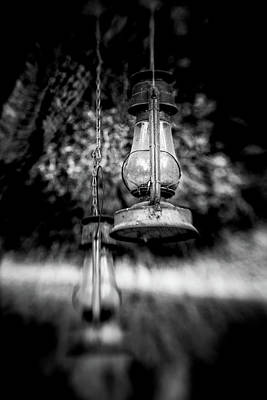 Gas Lamp Photograph - Drop Lights by Marnie Patchett