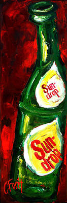 Junk Food Painting - Drop Of Sun by Carole Foret