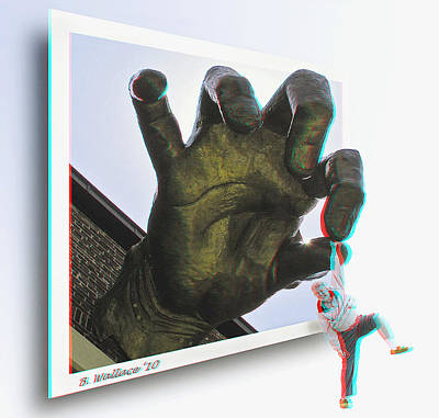 Predicament Photograph - Drop Out - Use Red-cyan 3d Glasses by Brian Wallace