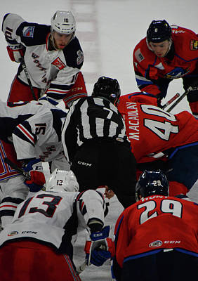 Photograph - Drop The Puck by Mike Martin