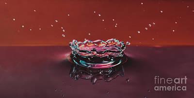 Droplet Impact 1 Art Print