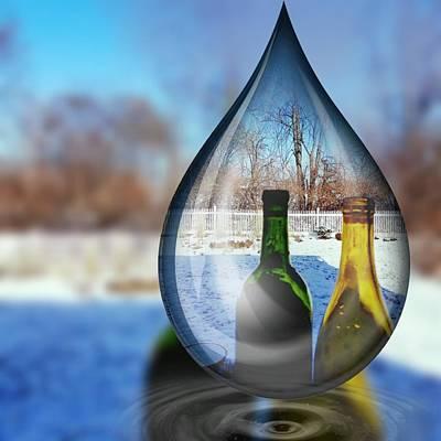 Digital Art - Droplet by Vijay Sharon Govender