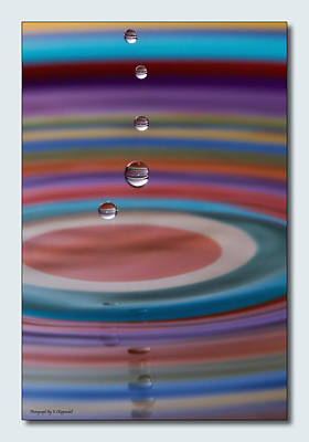 Photograph - Droplets 0001 by Kevin Chippindall