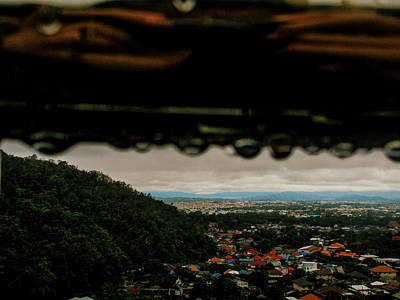 Photograph - Droplets Reflection Of City by Depdc