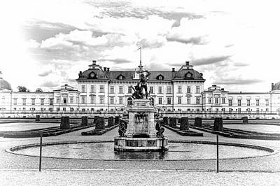 Photograph - Drottningholm Palace Black And White 2 by Jenny Hudson