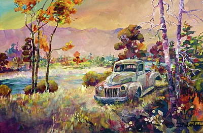 Painting - Drove My Chevy Whoops Make That Ford To The Levee by Bonny Roberts