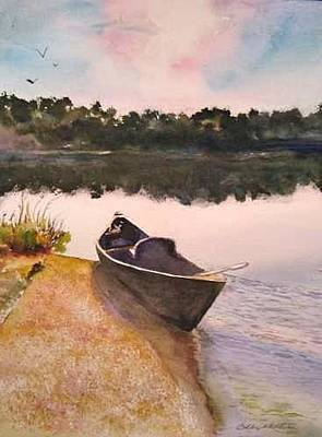 Painting - Drue's Canoe  by Bobby Walters