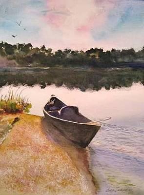 Painting - Drue's Canoe  by Bobby Walters