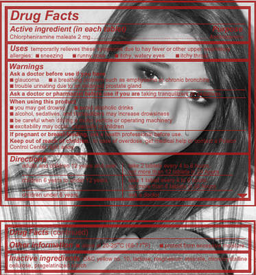 Photograph - Drug Facts by Kristie  Bonnewell