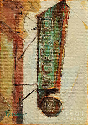 Drug Stores Painting - Drug Store On North Union St. by Cindy Roesinger