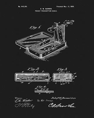 Mixed Media - Druggist Pocket Scale Patent by Dan Sproul