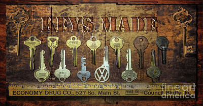 Photograph - Drugstore Keys by John Anderson